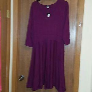 Spense woman burgundy sweater dress